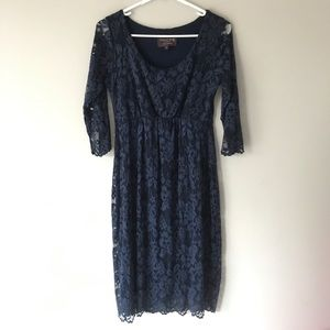 Tiffany Rose Maternity navy lace sheath dress K159
